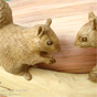 Squirrels woodcarving