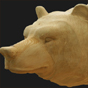 Bear head woodcarving