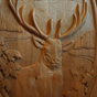 Elk dooe carving