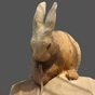 rabbit woodcarving