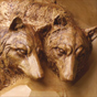 Wolf woodcarving