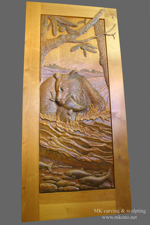 Carved bear door 1