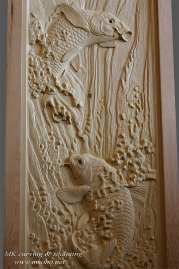 Woodcarving Carved Door Sculpture By Mk Carving Canada