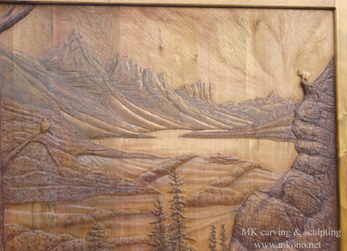 Woodcarving carved door sculpture by mk carving canada gallry1
