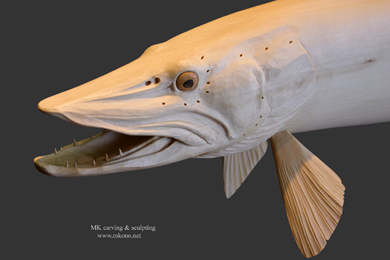 Muskellunge carving 3
