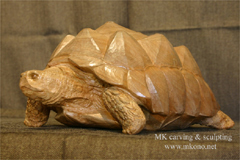 Turtle wood carving 3