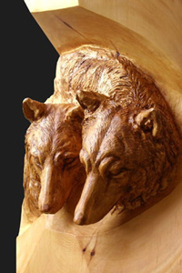 Wolf woodcarving 2